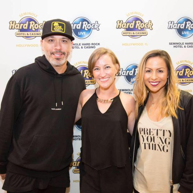 Me with comedians Jo Koy and Anjelah Johnson.